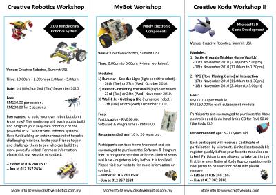 Cr8 Online Holiday Workshops